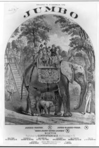 Jumbo the elephant (Library of Congress)