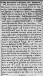 Fremont Weekly Journal, October 23, 1863