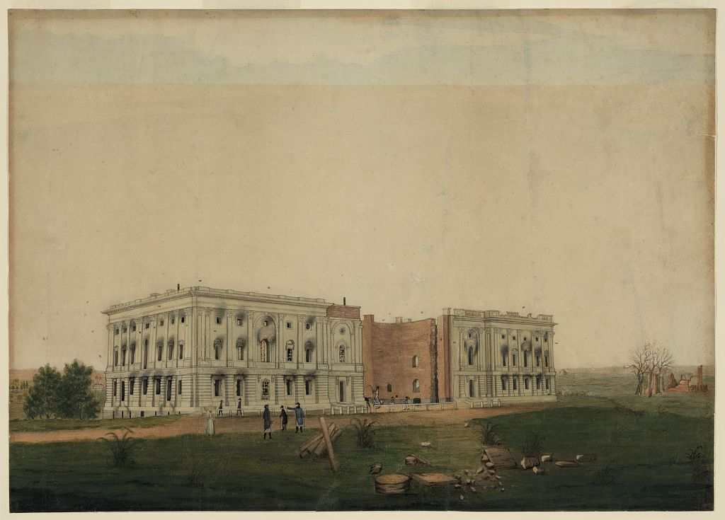 U.S. Capitol after burning by the British, 1814
